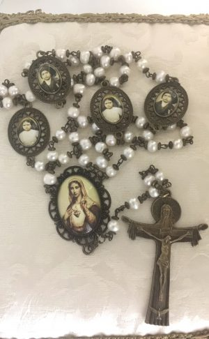 Rosario pared , Inmaculado Corazon de Maria